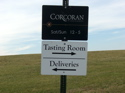 Corcoran Vineyards Tasting Room Sign
