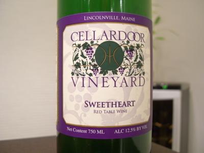Cellardoor Vineyard Sweetheart