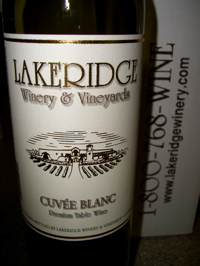 Lakeridge Winery & Vineyards Cuvée Blanc