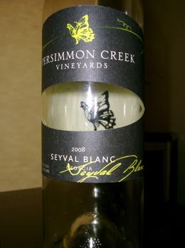 Persimmon Creek Vineyards 2008 Seyval Blanc