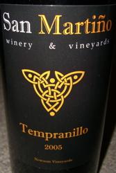 San Martiño 2005 Tempranillo