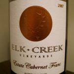 Elk Creek Vineyards 2007 Estate Cabernet Franc
