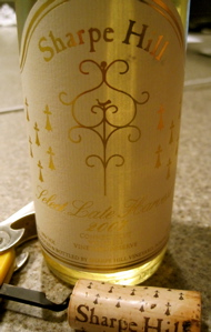 Sharpe Hill 2007 Select Late Harvest Vignoles