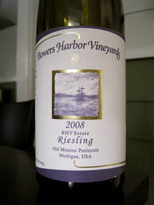 Bowers Harbor Vineyards 2008 BHV Estate Riesling