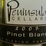 Peninsula Cellars 2007 Pinot Blanc