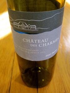 Château des Charmes 2007 Merlot, St. David's Bench Vineyard