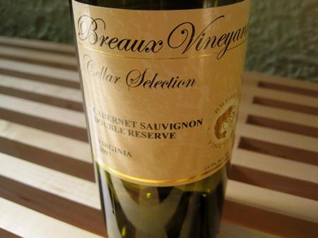 Breaux Vineyards Cellar Selection 2007 Cabernet Sauvignon Double Reserve