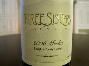 Three Sisters Vineyards 2006 Merlot