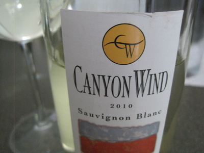 Canyon Wind Cellars 2010 Sauvignon Blanc