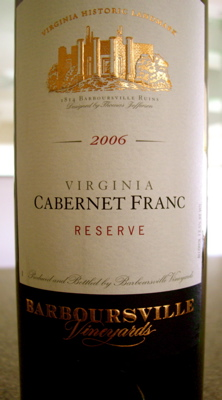 Barboursville Vineyards Cabernet Franc Reserve 2006