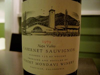 1979 Robert Mondavi Winery Cabernet Sauvignon Napa Valley Reserve