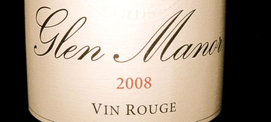 Glen Manor 2008 Vin Rouge