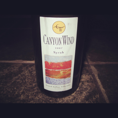 Canyon Wind Cellars 2007 Syrah