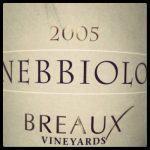 Breaux Vineyards 2005 Nebbiolo