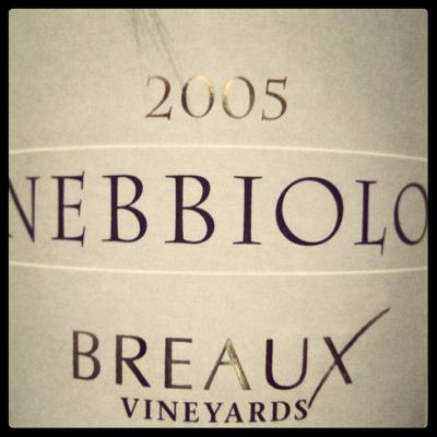 Breaux Vineyards 2005 Nebbiolo