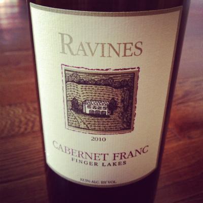 Ravines Wine Cellars 2010 Cabernet Franc