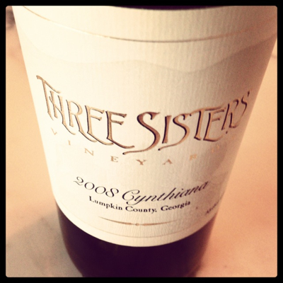 Three Sisters Vineyards 2008 Cynthiana